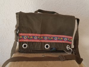 Crossbody bag green grey