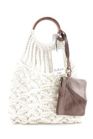 LENA GERCKE X ABOUT YOU Shopper cream-brown casual look