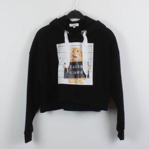 Lena Gercke x About You Sweatshirt Gr. S schwarz cropped oversized (18/10/220)