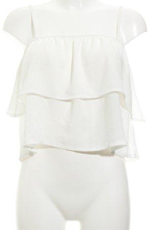 LENA GERCKE X ABOUT YOU Top con volantes blanco puro look Boho