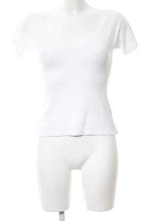 Lena Hoschek Pull à manches courtes blanc style décontracté