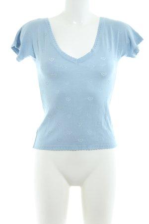 Lena Hoschek Pull à manches courtes bleu style décontracté