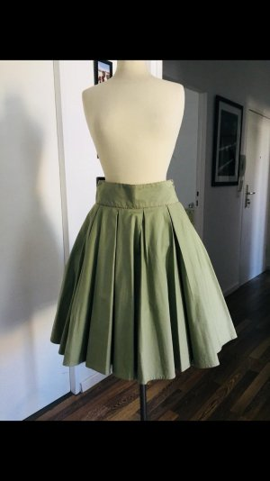 Lena Hoschek Falda de talle alto verde grisáceo-verde claro