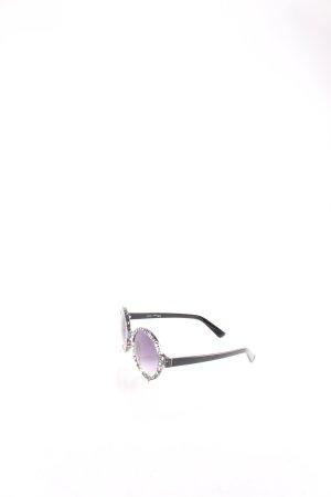 Lennox Eyewear runde Sonnenbrille schwarz grafisches Muster Street-Fashion-Look