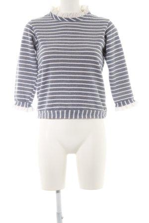 Lenny B. Paris Ringelshirt graublau-weiß Ringelmuster Casual-Look