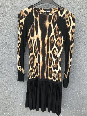 Leo Animal Print Cavalli Kleid , Gr S