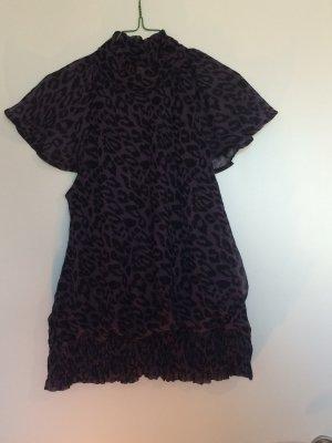 Leo-Bluse in lila/schwarz von Vero Moda