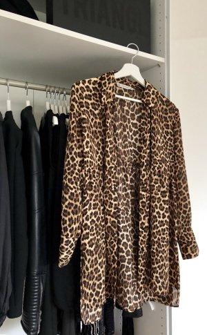 Zara Blusa negro-marrón oscuro