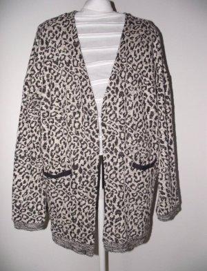 Leo Cardigan Leopard Strickjacke Strickmantel Animal beige schwarz grau zara vero moda
