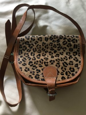 Crossbody bag beige leather