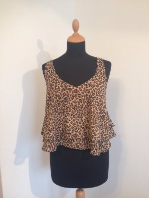 Leo Leopard Animal Animalprint Volants Rüschen Blogger Crop cropped Top Festival