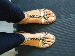 0039 Italy Strapped Sandals multicolored
