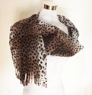 Fringed Scarf multicolored textile fiber
