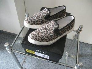 Leo Sneaker / Slipper von Nubikk, Gr. 37, taupe - weiß, NEU / ungetragen