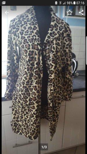 Fake Fur Coat black-sand brown