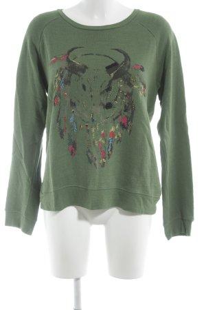 Leon & Harper Sweatshirt abstraktes Muster Casual-Look