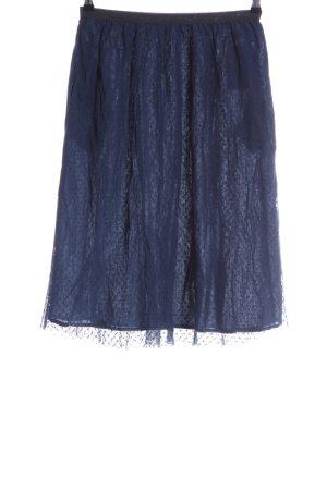 Leon & Harper Tulle Skirt blue spot pattern business style