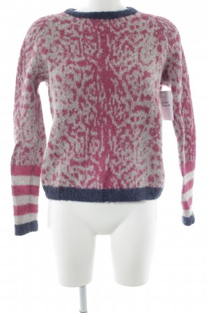 Leon & Harper Wool Sweater abstract pattern casual look