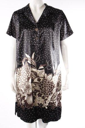 Leona Edmiston Shirtkleid schwarz beige