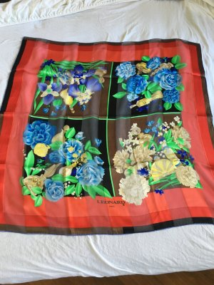 Leonard Paris Silk Scarf multicolored