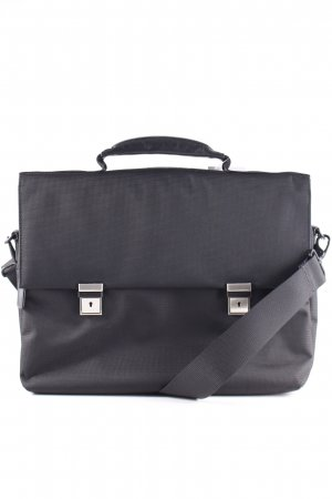 Leonhard Heyden Messengerbag black-silver-colored business style