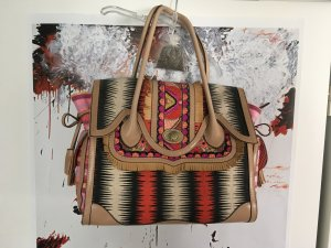 Carry Bag multicolored synthetic fibre