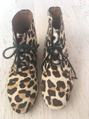 Zara Low boot brun-crème