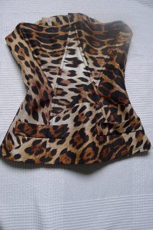 Leopard Corsage Roberto Cavalli @ H&M,Gr.34,100 % Seide