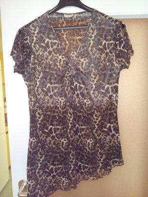 Leopard farbige elegante longe T-shirt Gr:XL