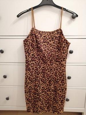 Leopard Kleid aus samt gr. 40