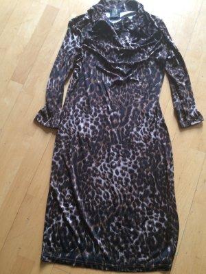 Leopard Kleid Madeleine aus Seidenjersey Gr. 36