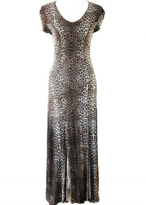 *  Leopard-Muster   Kleid  *  Gr. 36-38  *
