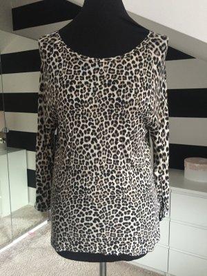 Leopard Muster Shirt Hr. 36 S Oberteil Langarmshirt