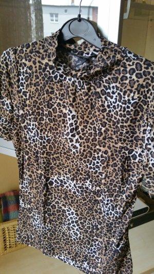 Leopard Rollkragenpullover gr. s