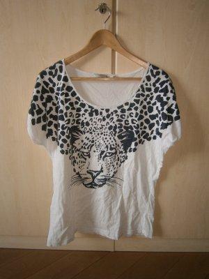 Leopard Tshirt schwarz/weiß