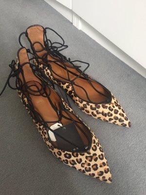 Leoparden Ballerinas zum binden