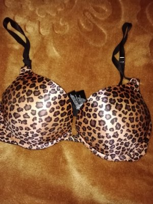 Leoparden BH mit mega push up