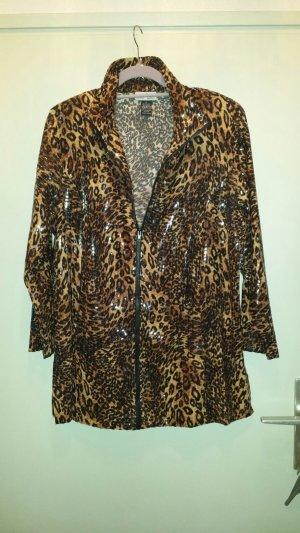Leoparden Blusenjacke neu gr Xl