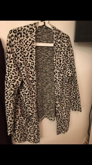 Leoparden Cardigan Strickjacke Neu
