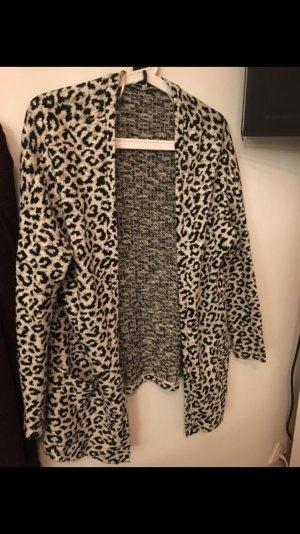 Leoparden Cardigan Strickjacke Neu