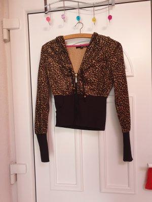 Tally Weijl Chaqueta estilo camisa negro-marrón