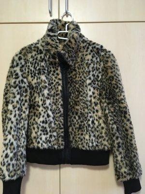 Leoparden Jacke mit Kragen