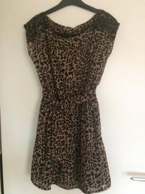 Leoparden Kleid mit Spitze
