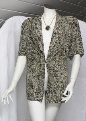 Leoparden Muster Bluse Blazerschnitt