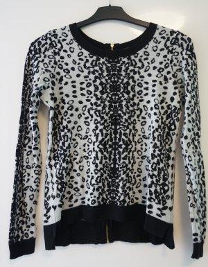 Leoparden Pullover mit Reißverschluss