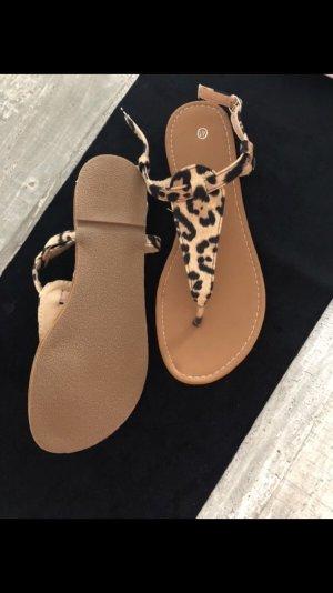 SheIn Toe-Post sandals multicolored