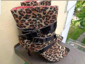leoparden  stiefelletten  gr 40