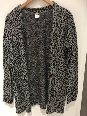 Leopardenjacke in grau schwarz