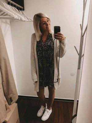 Zara Peplum Dress black-brown