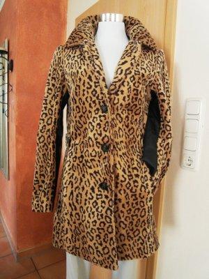 Leopardenmantel - mit Lederoptikärmel - NEU